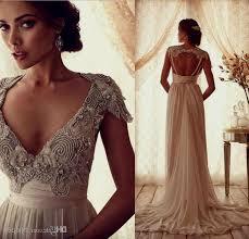 vintage open back lace wedding dresses naf dresses