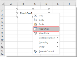 How to bold text in checkbox in Excel?