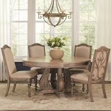 Coaster Ilana Traditional Round Dining Table with Detailed