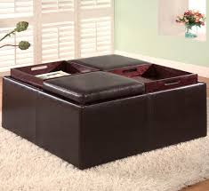 ottoman with storage and tray. Incredible Square Storage Ottoman And Fabulous With Tray Ottomans Contemporary Faux For