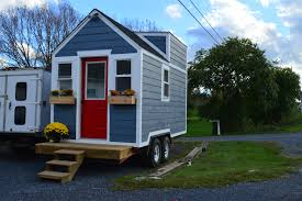 Small House On Wheels Marvelous Wooden Small Houses On Wheels Added Two Windows And