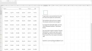 Generate Multiplication Worksheets Math Self Generated Create And ...