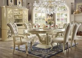 antique white dining room sets. 7 Piece Dining Set In Antique White Bonded Leather Finish By Homey Design - Room Sets H