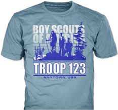 Tee Shirt Design Ideas Boy Scout Troop T Shirt Design Idea Sp3290 On Light Blue T Shirts
