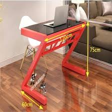 glass computer desk z style office writing table tempered glass computer desk modern laptop desk mezza glass computer desk
