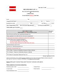 Employee Hire Forms 50 Useful New Hire Checklist Templates Forms Template Lab