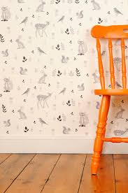 Woodland Animals Wallpaper | For the Nest-Childs Room | Pinterest ...