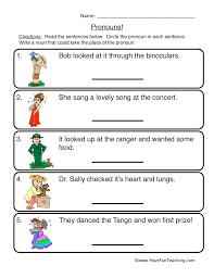 Pronoun Worksheets | Have Fun Teaching