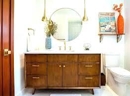 mid century modern bathroom vanity cabinet light medicine mod