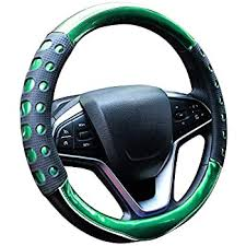 Steering Wheels & Horns <b>Leather</b> Texture Soft <b>Silicone</b> Car Steering ...