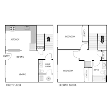parkway townhome apartment floor plans 2 bedroom 1 5 bath apartment townhome 880 896 sq ft