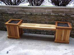 reclaimed poplar planter bench by warnimct