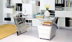 chrome office desk. vig modrest clif modern chrome office desk u0026 cabinet in white