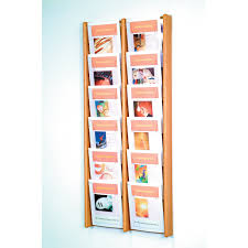 Vertical Magazine Holder 100Pocket Vertical Solid Wood Magazine Rack from hayneedle 1