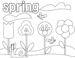 Little Girl Catch Butterfly On Garden Spring Coloring Pages Free