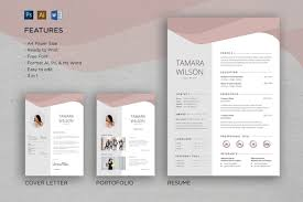 Professional Cv And Resume Template Tamara Ai Psd Download