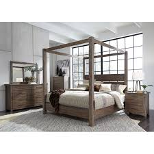 modern rustic brown 4 piece queen bedroom set sonoma road rc willey furniture