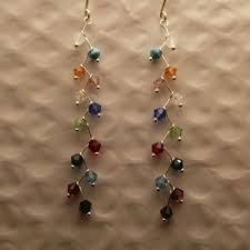 jewels by penny s multi colored swarovski crystal chandelier earrings