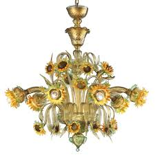 girasole sunflowers murano glass chandelier murano glass chandeliers