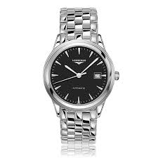 mens longines watches the watch gallery longines flagship automatic stainless steel black dial mens watch l48744526