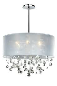 white drum chandelier with crystals allure crystal chandelier with silk drum shade