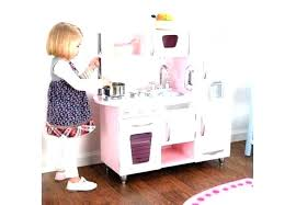 kids pink retro kitchen vintage wooden play costco toy set personalize