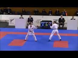 Senior Female Kumite (-55Kg) Final - Britney Aldridge (NZL) vs ...