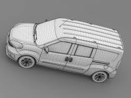 Free psd van food truck mockup. Fiat Doblo Maxi Combi 263 2015 3d Model In Van And Minivan 3dexport