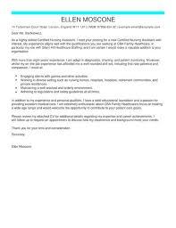 Nursing Assistant Cover Letter Ceritified Nursing Assistant Cover