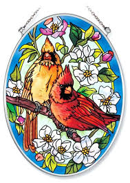 northern cardinals x 7 stained glass suncatchers small suncatcher patterns