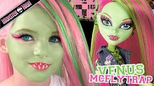 venus mcflytrap monster high doll costume makeup tutorial for cosplay or