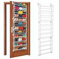 1 x 12 layer 36 pair over the door hanging shoe hook shelf rack holder storage organizer white