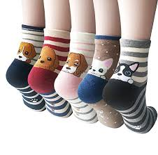 Womens <b>Cute</b> Animal Painting Socks, Funny and Cool 100% <b>Cotton</b> ...