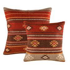red tribal kilim cushion