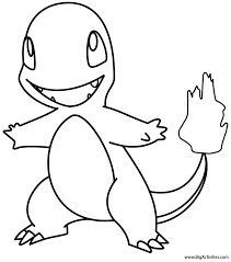 Small Picture Charmander Coloring Page Pokemon