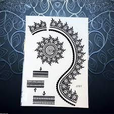 Us 079 10 Off1pc Omega Flower Totem Black Ink Temporaory Tattoo Stickers Women Henna Mehndi Lace Bracelet Design Waterproof Tattoo Arm Pbj021 In