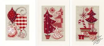Vervaco Cross Stitch Charts Cross Stitch Kits Vervaco Greeting Cards Christmas