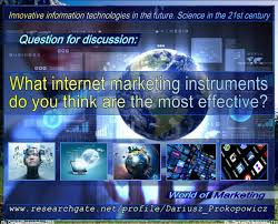 What internet marketing instruments do you think are the most effective?