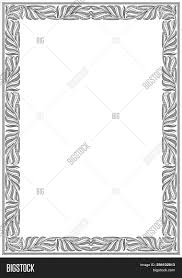white certificate frame simple black white vector photo free trial bigstock