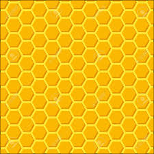 Beehive Pattern Awesome Honeycomb Beehive Orange Vector Background Bright Looped Pattern
