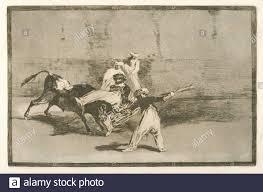 Cogida de un moro estando en la plaza. Avery, Samuel Putnam, 1822-1904  (Collector) Goya, Francisco (1746-1828) (Artist). Samuel Putnam Avery Stock  Photo - Alamy