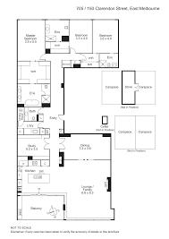 705/150 Clarendon Street,East Melbourne 3002 Floorplan