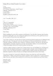 Resume Samples For Teacher Example Teacher Cover Letter Cover Letter Example Teacher Example