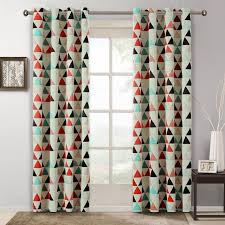 Geometric Pattern Curtains Simple Children Curtains For Bedroom American Style Geometric Pattern Room