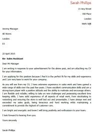 Cover Letter Examples For Retail Sales Choice Image - Letter Format ...