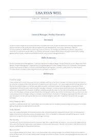 Sample General Manager Resume Vice President And General Manager Resume Samples Templates