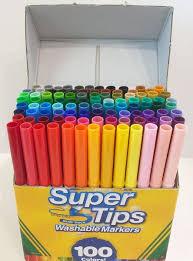 Crayola Supertips 50 Color Chart Marker Madness Crayola Super Tips Tandika Com