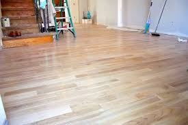 striking white oak flooring for kitchen interior design combined with minimalist decoration in bright color inspiration
