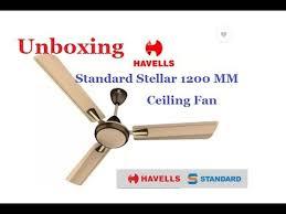 havells standard stellar 1200 mm brown ceiling fan