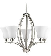 progress p4490 09 joy 5 light 24 inch brushed nickel chandelier ceiling light in etched